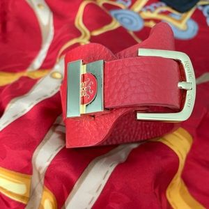 Rustic Cuff red leather wrap